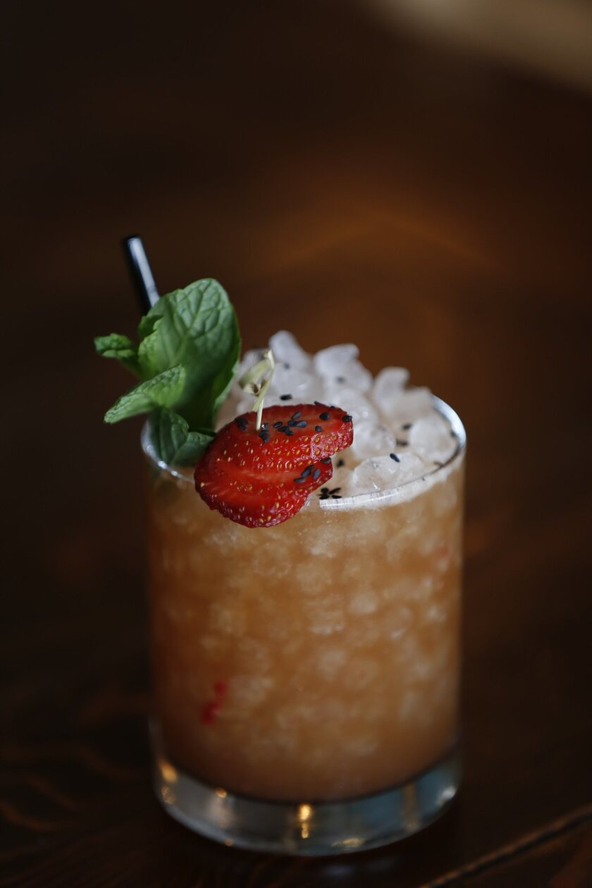 The Kama Sutra, also know as a Hardball, is an aphrodisiac cocktail made by bar manager Leigh Lecap at Campfire in Carlsbad.