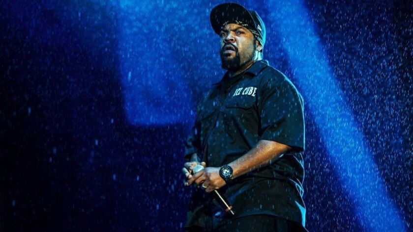 Ice Cube performs at a 2016 festival in Quebec City. An Escondido man upset he couldn't get a ticket to the rapper's concert on Sunday in Del Mar fired several shots before being shot himself by deputies.