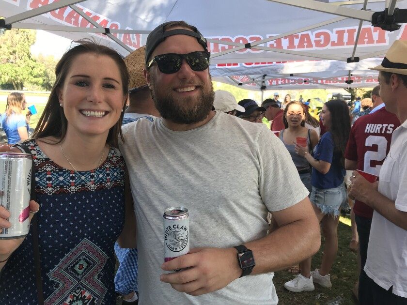 Our tailgate bait: White Claw, a couple of kegs and a full roster of wiseguys