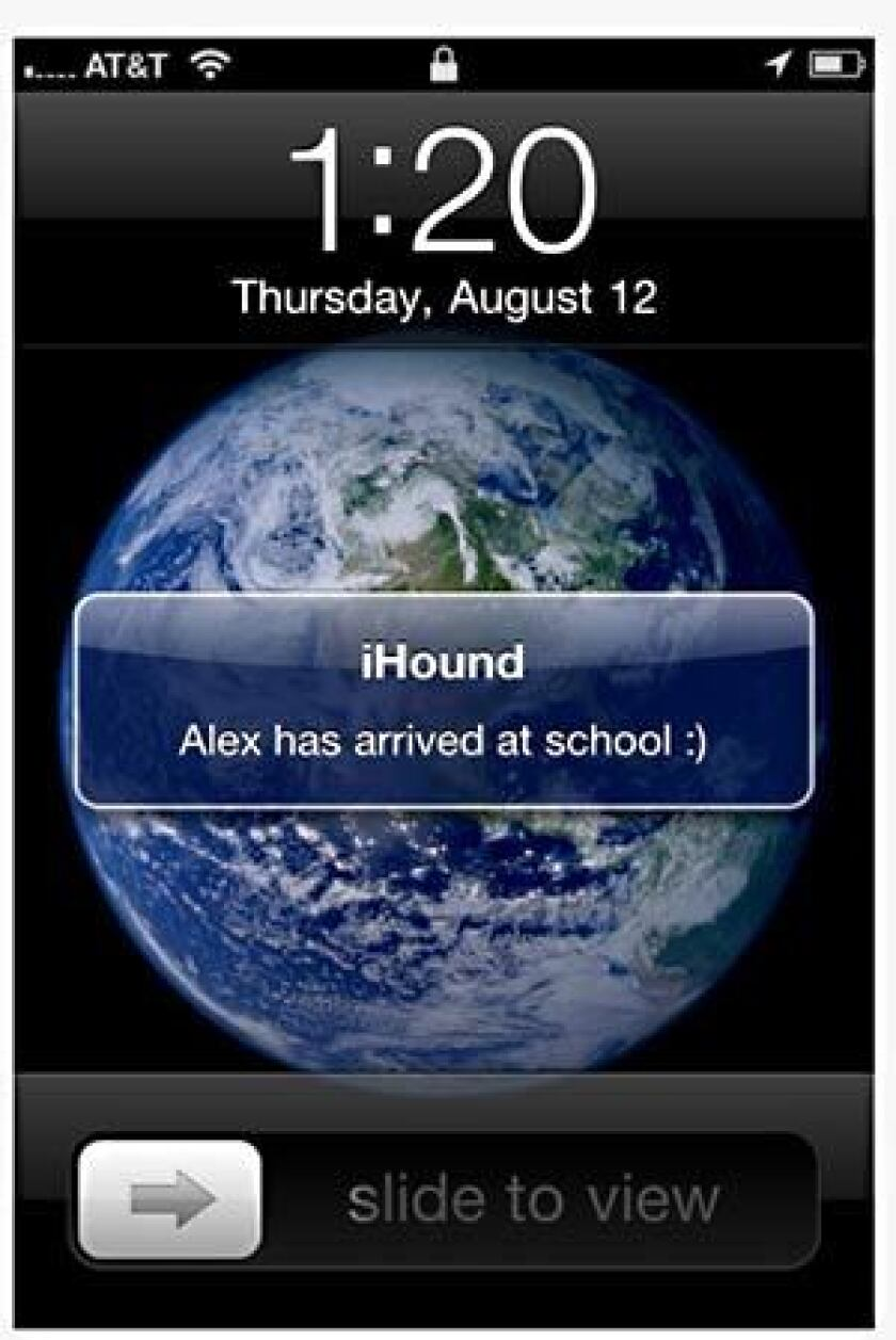 A screen shot of the iHound app.