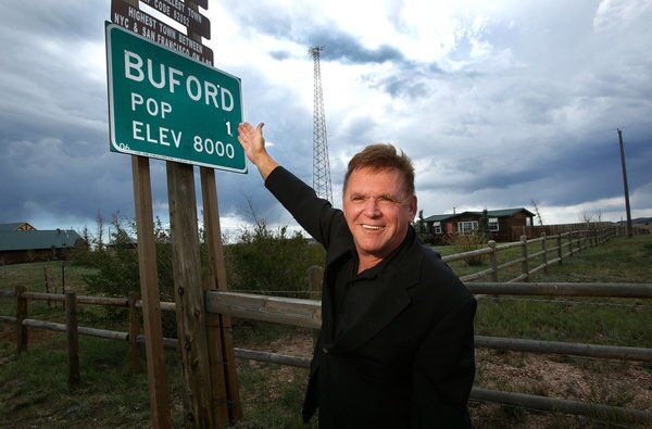 Don Sammons, former owner of the town of Buford, Wyo., bought the town in 1992 and promoted it as the nation's smallest. He put it up for auction last year when he decided to move.