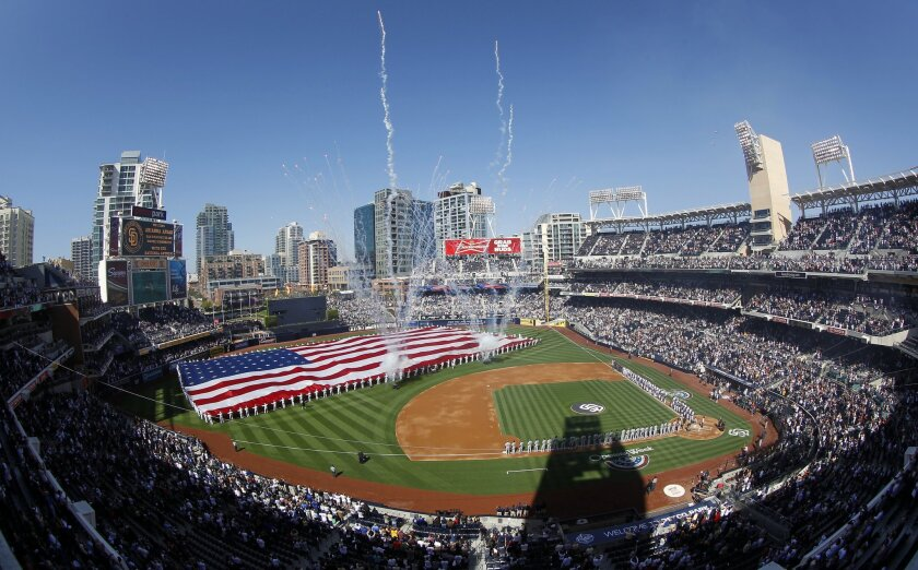 The Padres hosted the Dodgers for their home opener at Petco Park.