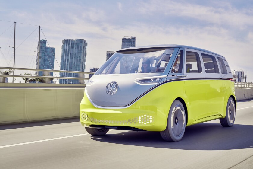 A new Volkswagen van will be an all-electric vehicle that runs on batteries.
