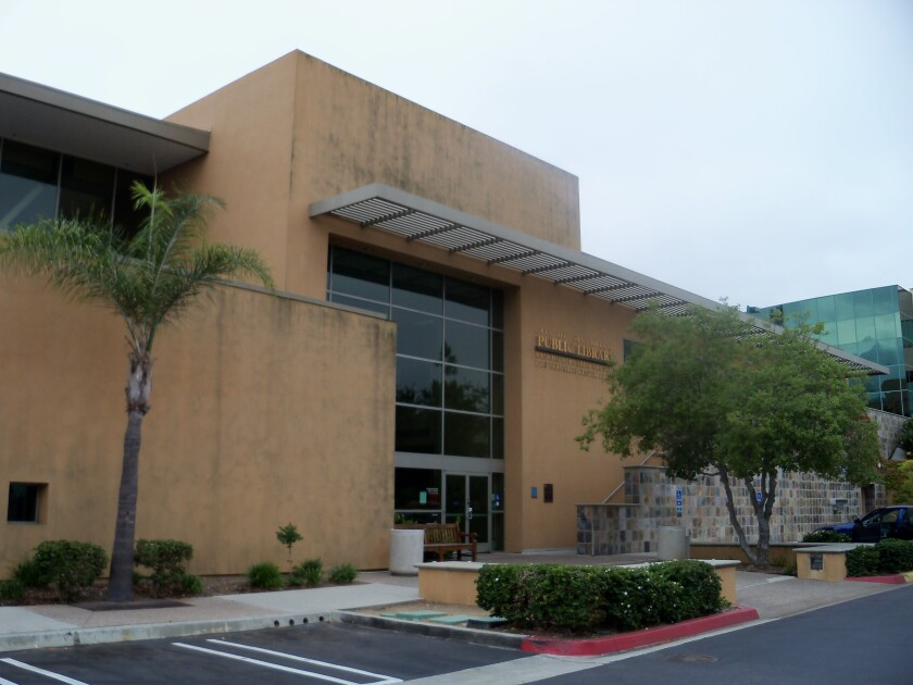 The Rancho Bernardo Library at 17110 Bernardo Center Drive.