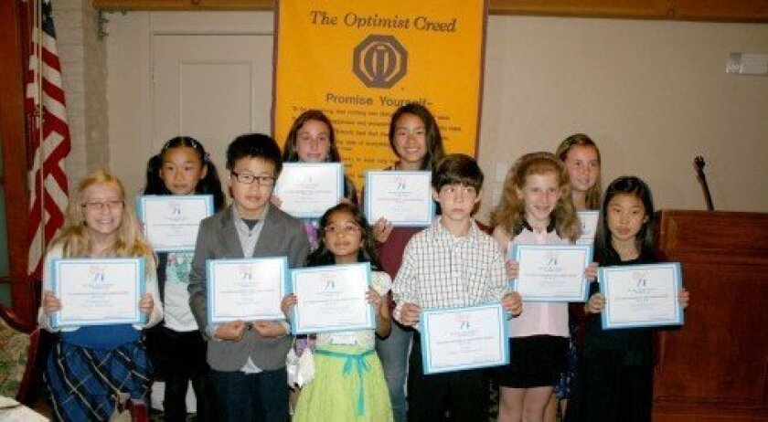 Children's Challenge Awards winners (back row): Yolanda Sun, Maxine Lacher, Katie Sheng, Avalon Moore; (front row): Chase Anichini, Maxwell Yao, Pranaya Malkani, Asher Petkevich, Tess Maretz and Faith Choe. Photo/Karen Billing