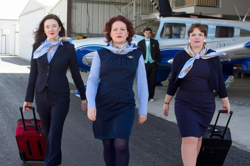 """Jo Anne Glover, Deanna Driscoll, Justin Tyler Jones and Melissa Fernandes make up the cast of Moxie's """"Mud Blue Sky."""""""