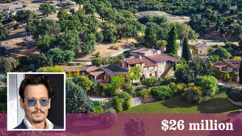 Actor Johnny Depp has listed his 37-acre estate in Plan de le Tour, France, for sale at close to $26 million.