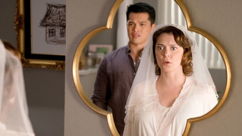 "Vincent Rodriguez III and Rachel Bloom in ""Crazy Ex-Girlfriend"" on the CW."