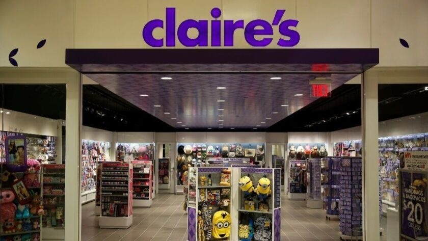 A Claire's test store is seen in 2015 inside Claire's headquarters in Hoffman Estates. The Food and Drug Administration has issued a safety alert warning consumers not to use certain eye shadows, compact powders and contour palettes.