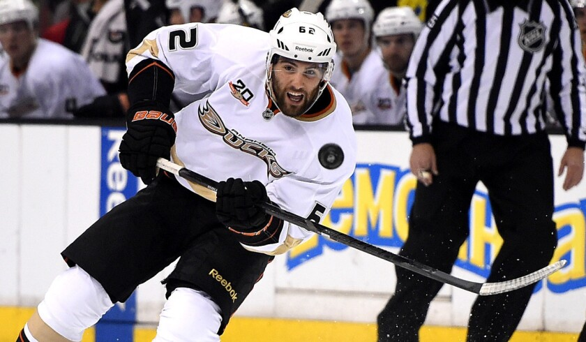 Ducks left wing Patrick Maroon had 11 goals and 18 assists as a rookie last season.