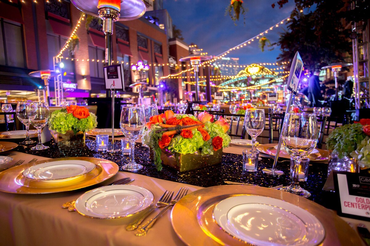 This year's Lamplighter Awards banquet, which also marked the Gaslamp Quarter's 150th anniversary, included a cocktail hour at the Hard Rock Hotel and a sit-down dinner on Fifth Avenue under the historic Gaslamp sign on Tuesday, Nov. 11, 2017.