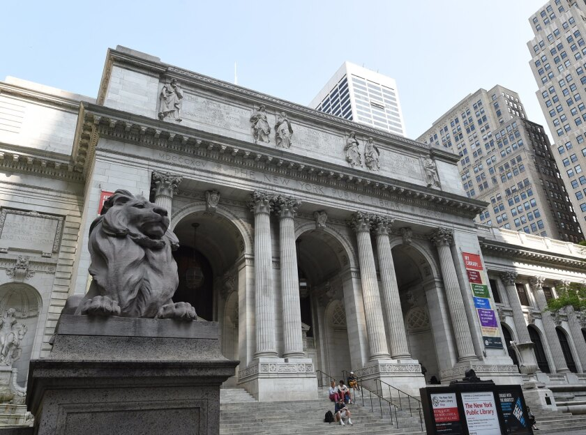 The New York Public Library on Fifth Ave.