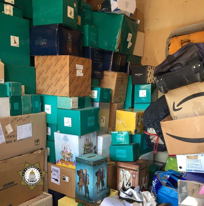 Authorities found thousands of dollars' worth of stolen Disney memorabilia in a northern Sacramento storage unit.