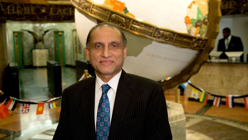 LOS ANGELES, CA., FEBRUARY 12, 2018-- Aizaz Ahmad Chaudhry is the current Pakistan Ambassador to the