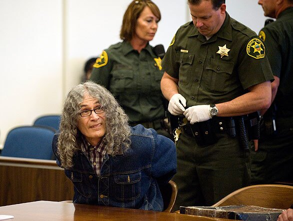 Serial killer Rodney Alcala in court in Santa Ana. He was sentenced to death for killing four women and a 12-year-old girl in the 1970s. It was the third time he has received the death penalty in the slaying of the girl, Robin Samsoe.