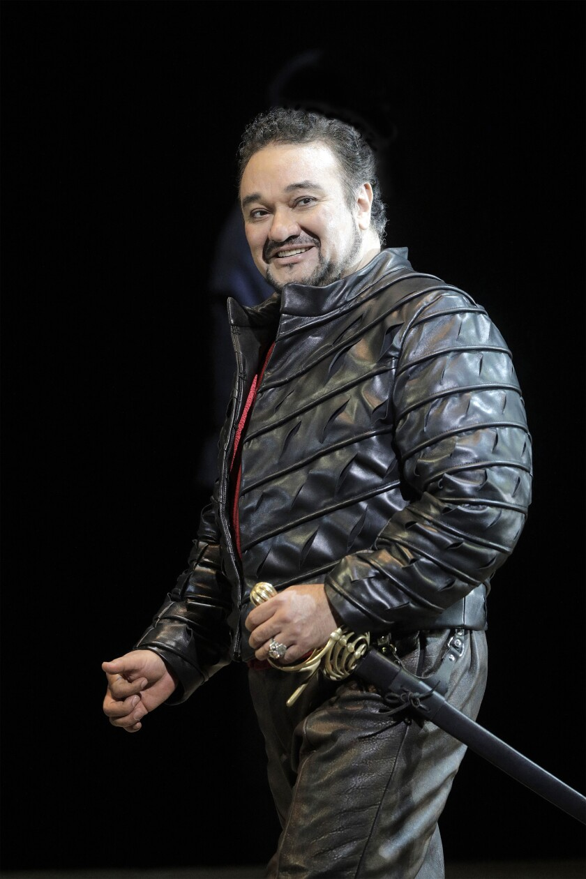 "Ramón Vargas in the title role of the Los Angeles Opera production of ""Roberto Devereux."""
