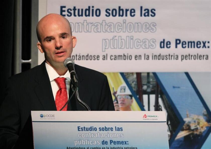 El director general de Pemex, José Antonio González Anaya, durante una conferencia de prensa. EFE/Archivo