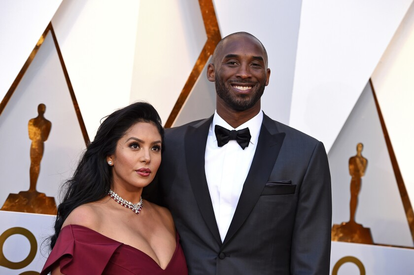 Kobe and Vanessa Bryant arrive at the 2018 Oscars at the Dolby Theatre in Los Angeles