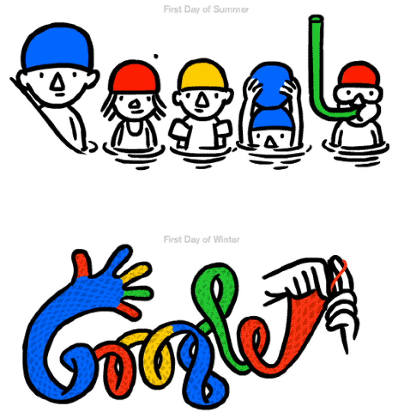 Christoph Niemann designed Google's doodle for the Northern Hemisphere's summer solstice and the Southern Hemisphere's start of winter.
