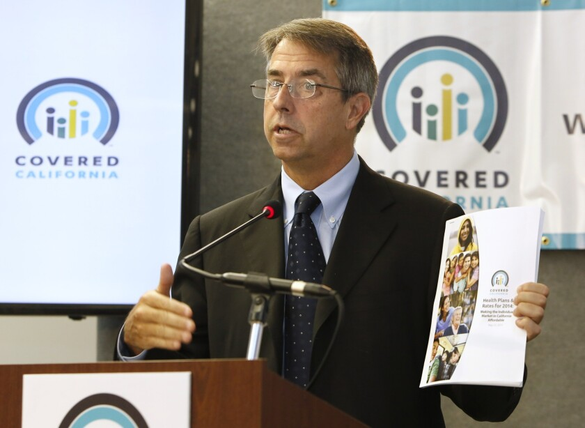 Peter Lee, executive director of Covered California, the state agency running California's new health insurance exchange, announces the plans and prices that will be offered by private insurers.