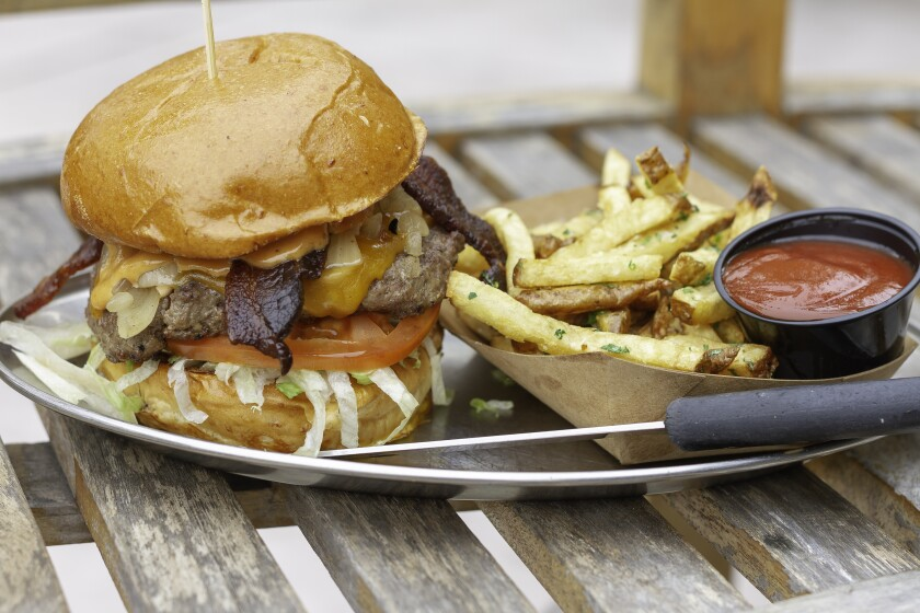 A Notorious Burger from the Carlsbad restaurant.