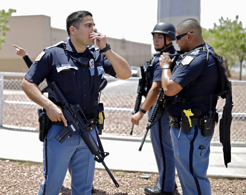 Police respond to scene of mass shooting in El Paso