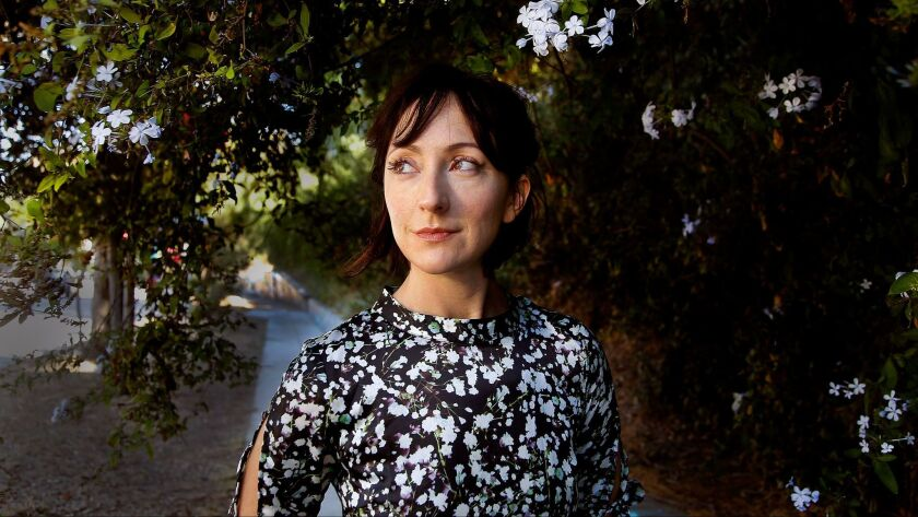 """Carmen Cusack in Silver Lake. The actress has returned to the role that earned her a Tony nomination: Alice in the Steve Martin-Edie Brickell musical """"Bright Star,"""" now at the Ahmanson."""