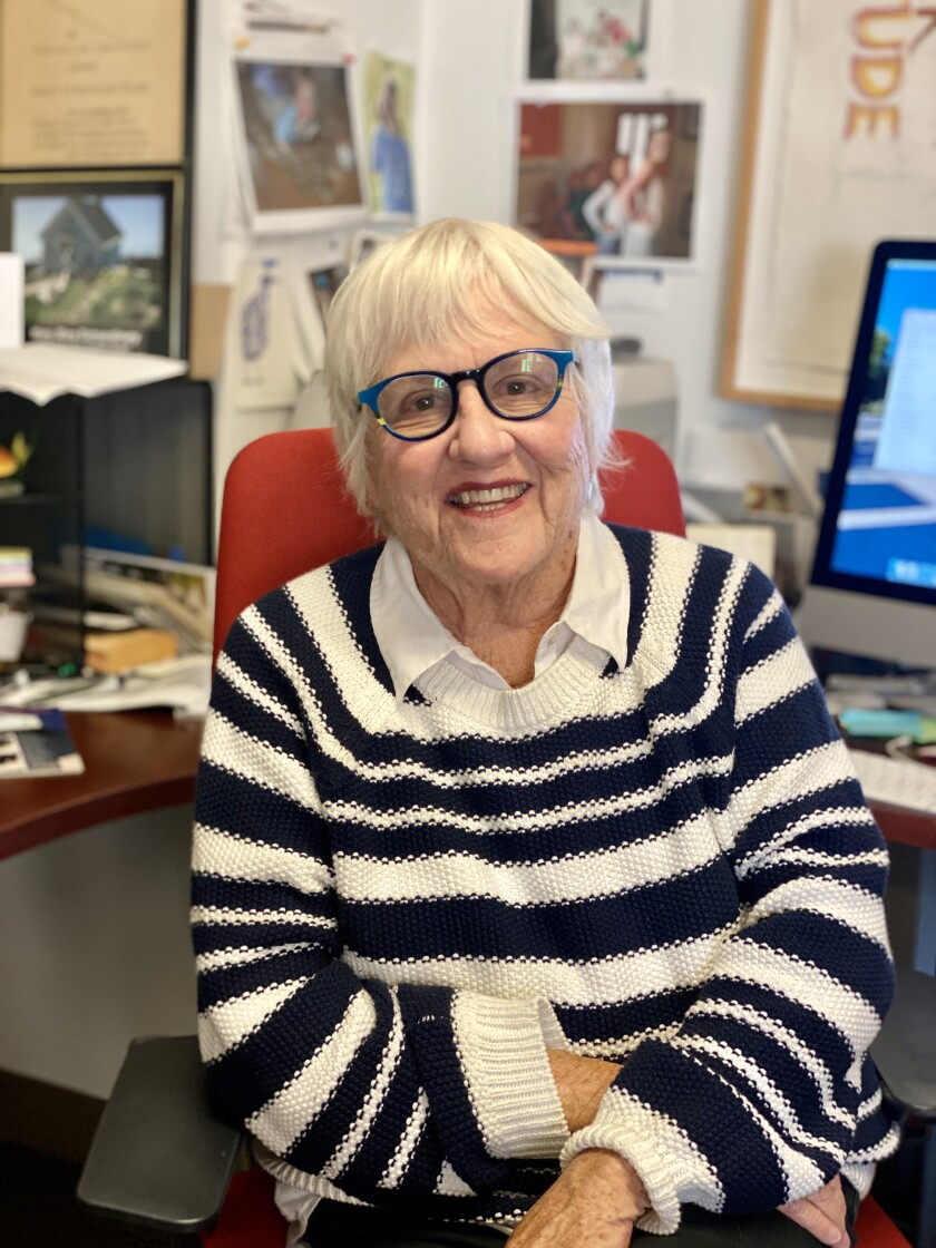 Mary Livingston Beebe is the founding and only director of UC San Diego's Stuart Collection of art.
