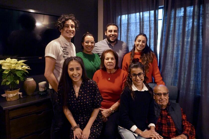Joe Villegas and family members.