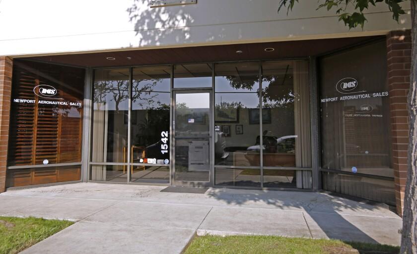 Newport Aeronautical Sales, on the 1500 block of Monrovia Avenue in Newport Beach.