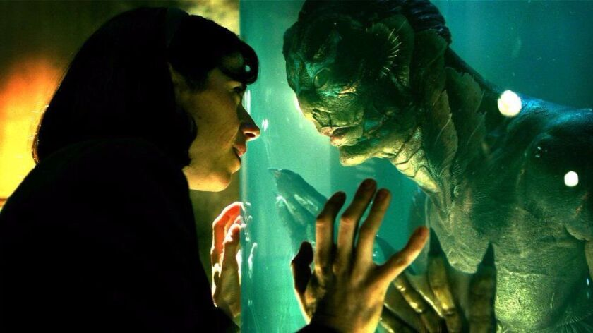 "Sally Hawkins and Doug Jones star in ""The Shape of Water,"" which received seven nominations for Golden Globe awards."