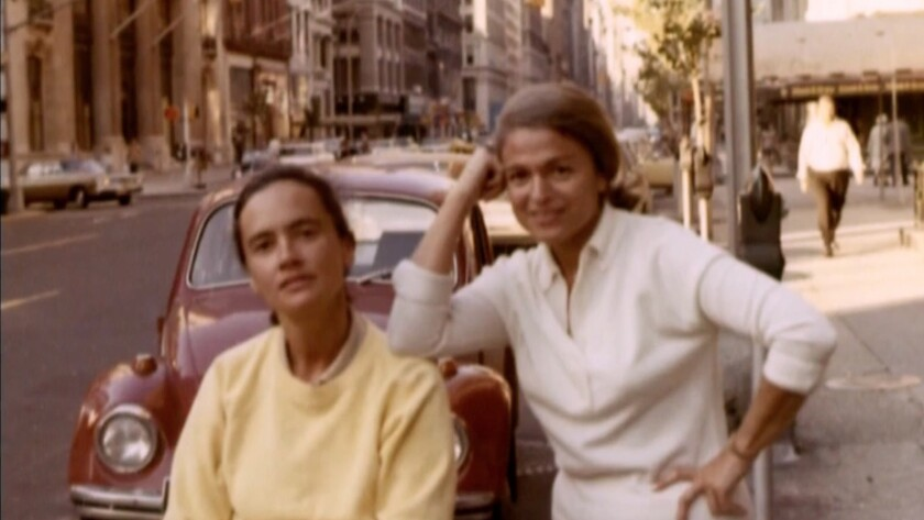 "(L-R) - A photograph of Edith Windsor and Thea Spyer i a scene from the documentary ""To A More Perfe"