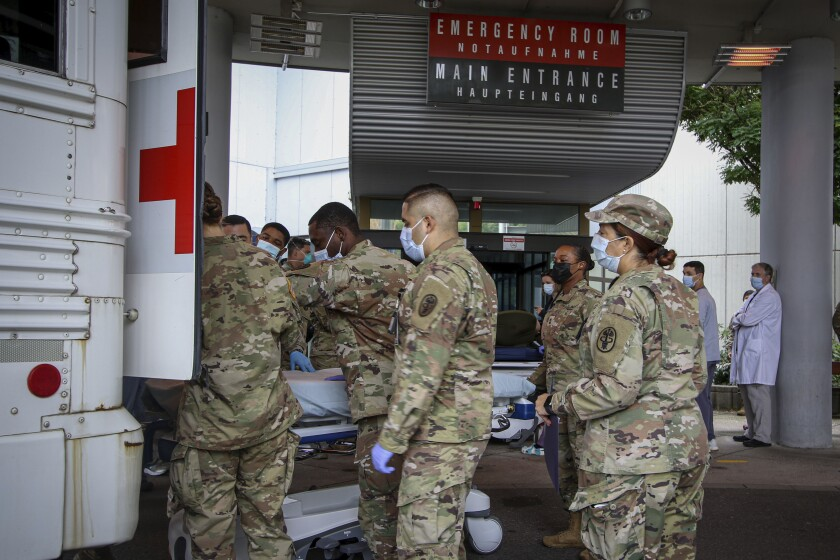 U.S. Army, soldiers, airmen and civilian staff at Landstuhl Regional Medical Center, Germany