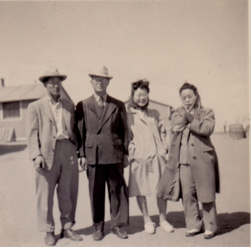 The Takei family with Harry, at center, Esther and Ninoe