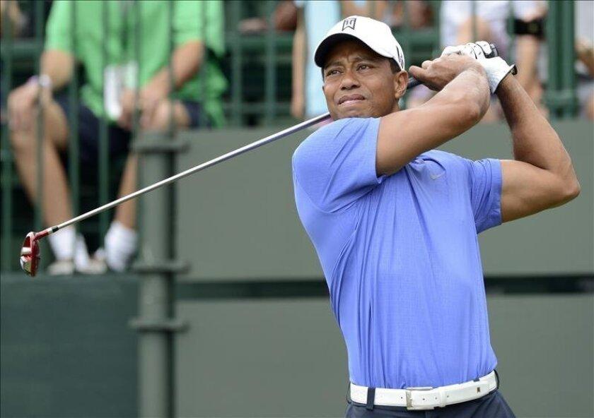 Imagen de archivo del golfista estadounidense Tiger Woods. EFE/Archivo