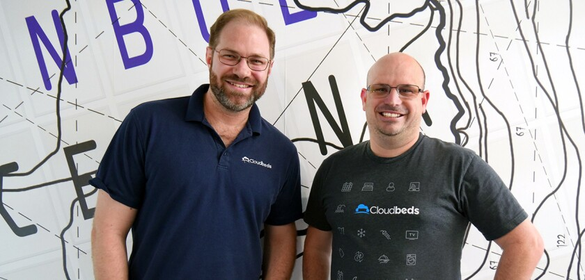 Cloudbeds co-founders Richard Castle (left) and Adam Harris.