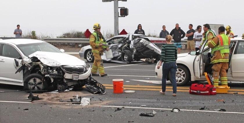 3-car crash in newport injures one