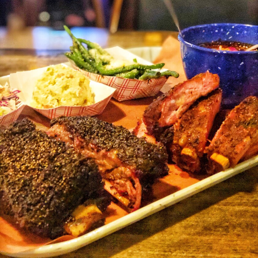 A BBQ meal fit for a king and queen at Grand Ole BBQ in Flinn Springs.