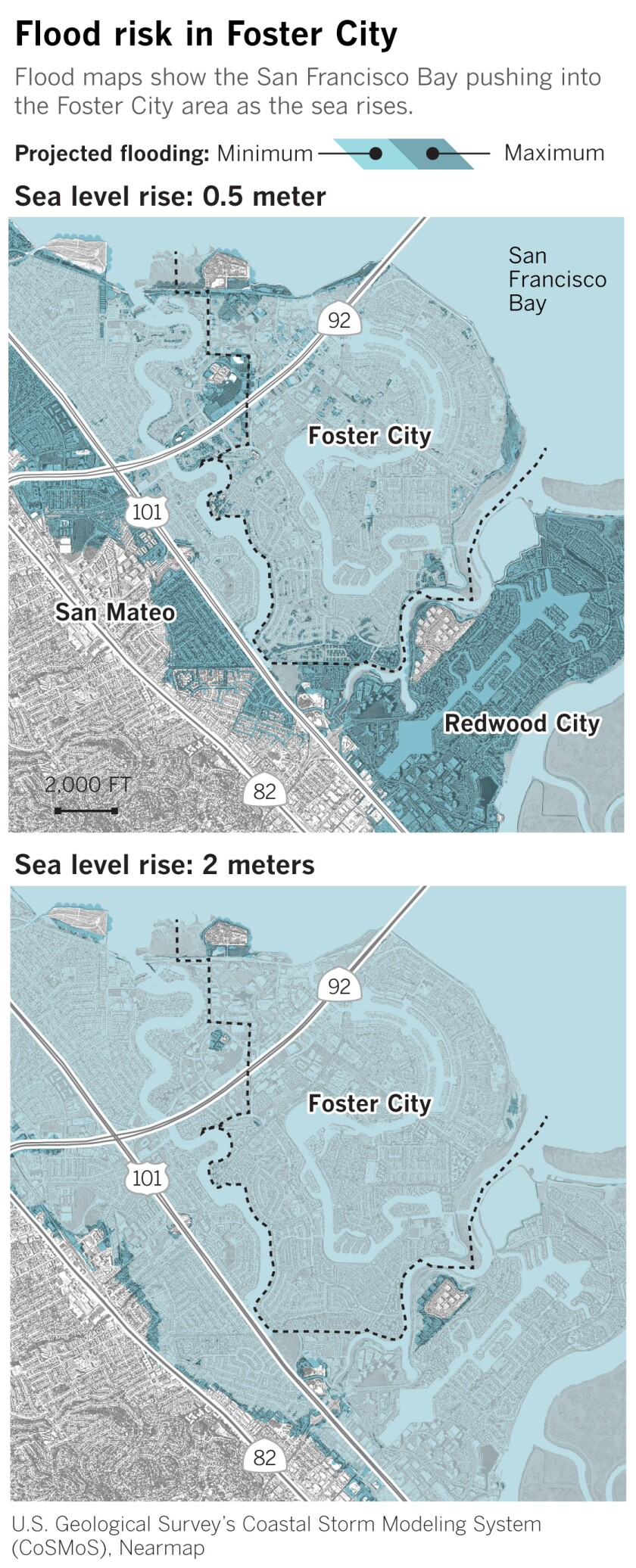 Flood risk in Foster City