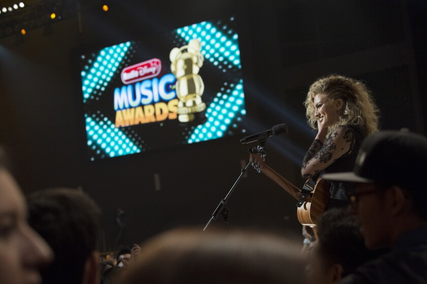 Singer-songwriter Tori Kelly at the 2015 Radio Disney Music Awards.