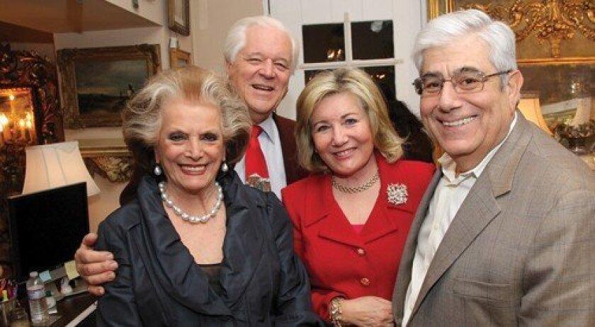 Connie and Bill McNally, Patricia and George Karetas (Photo: Jon Clark)