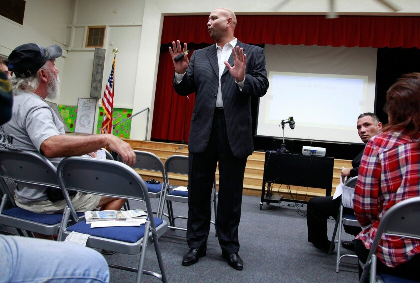 Lamont Jackson, now San Diego Unified's interim superintendent, facilitated a community discussion in 2015.
