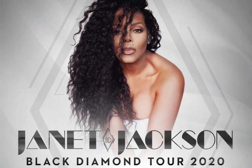 Janet Jackson's 2020 tour will include at least five California concerts, starting with an August show in San Diego.