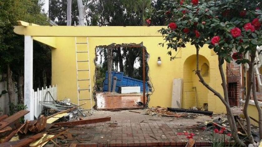 The home in Cheviot Hills where Ray Bradbury lived for 50 years being demolished.
