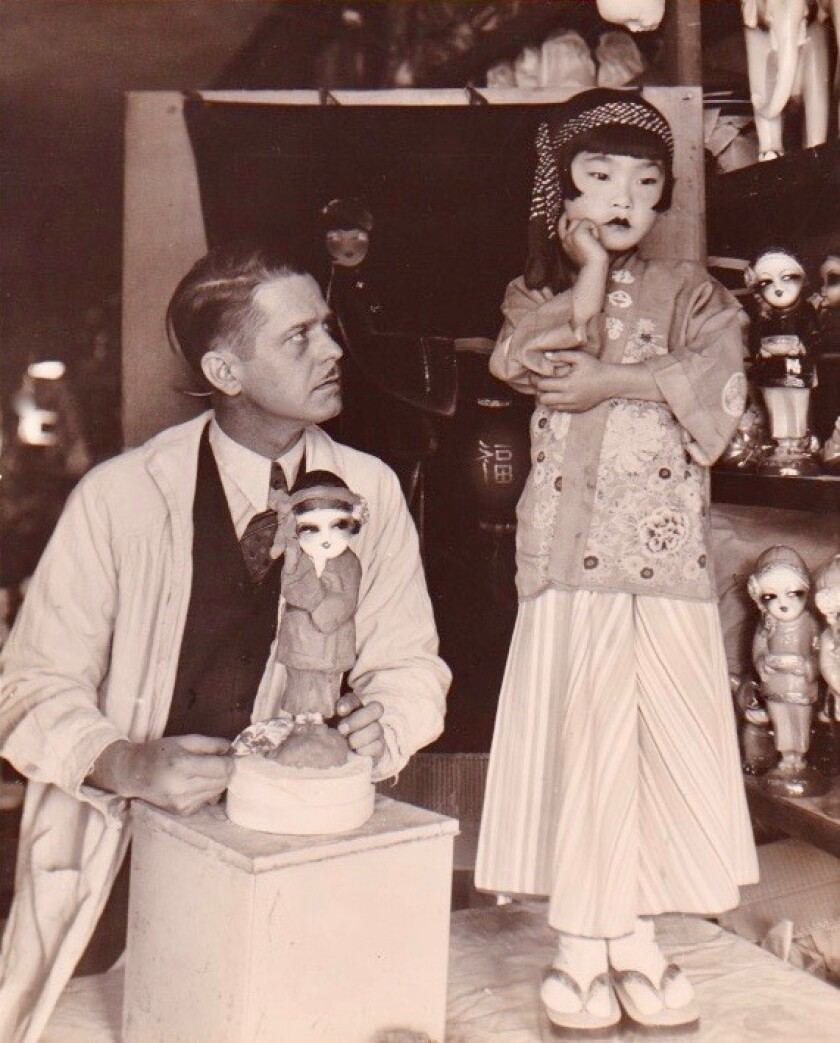 Esther Takei as a young girl in Venice
