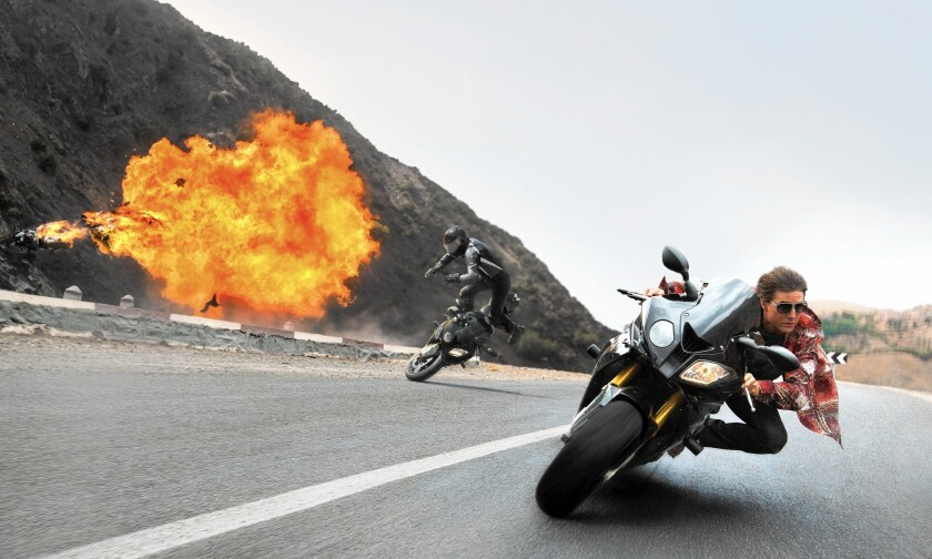 """Tom Cruise in """"Mission: Impossible -- Rogue Nation."""""""