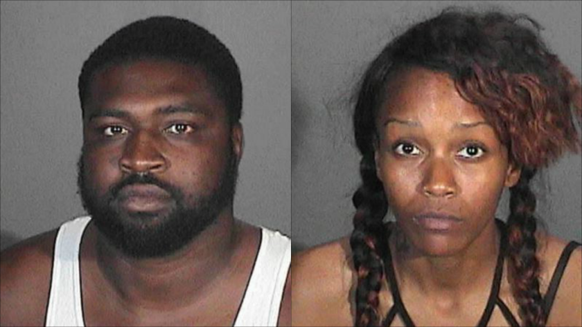 Glendale police arrested Jasper Johnson, 30, and Paige Lark, 24, after they allegedly beat and robbed a prostitute at a Glendale motel.