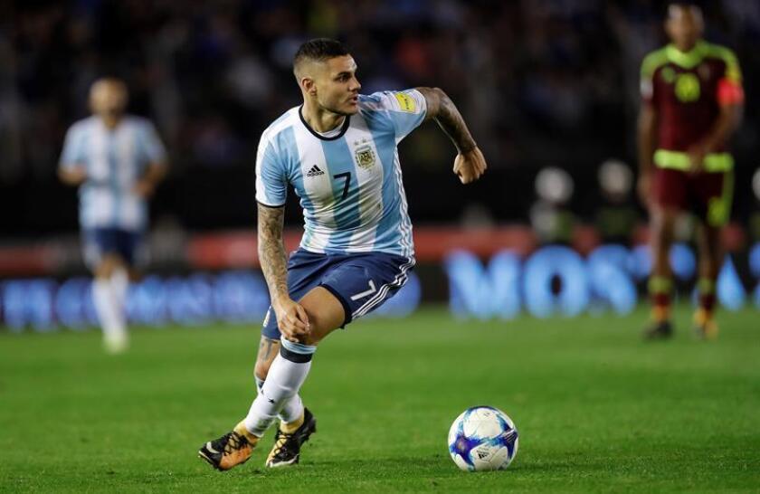 En al imagen, el jugador Mauro Icardi de Argentina. EFE/Archivo