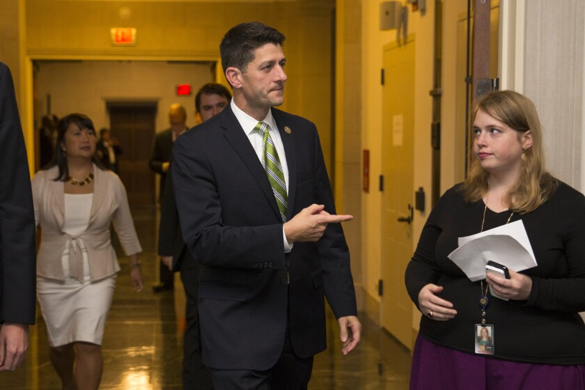 Rep. Paul Ryan (R-Wis.) has said he is not a candidate for speaker.