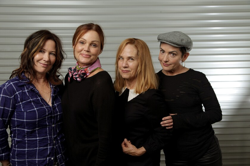 Kathy Valentine, left, Belinda Carlisle, Charlotte Caffey and Jane Wiedlin of the Go-Go's.